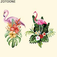<b>ZOTOONE</b> Flamingo <b>Flower Patch</b> Iron On Transfers For Clothing ...