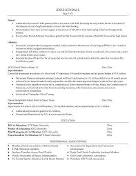 School Superintendent Resume - Best Resume Collection