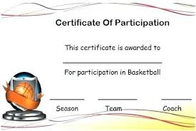 Certificate Participation Template Free Nppa Co