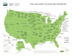 southern colleges. List Of Land Grant Blank Map Southern California Colleges And