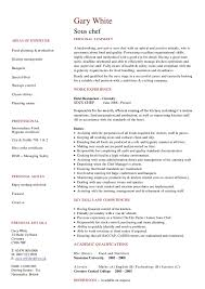 sous cv hashdoc chef resume objective