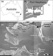 Tide Chart Port Stephens A Location Of Port Stephens Nsw Australia B Map Showing
