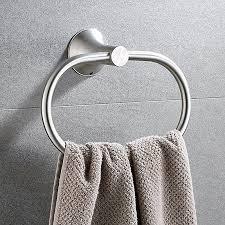 hand towel holder for wall. Bath Towel Ring Holder Bathroom Shower Hand Hanger Kitchen Round Rack Set For Wall