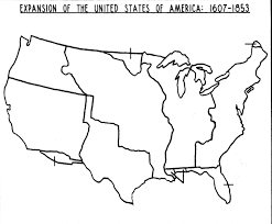 Us westward expansion blank map all world maps