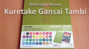 Gansai Tambi Color Chart Kuretake Gansai Tambi 36 Colors Set Watercolor Review