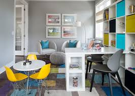 kids office. View In Gallery Trendy Kids\u0027 Playroom And Home Office Combo Idea [Design: Refined LLC / Studio Kids