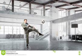 Playing Office Soccer Mixed Media Stock Photo Image Of Worker