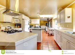 Cozy Kitchen Cozy Kitchen Room With White Cabinets Royalty Free Stock