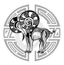 Ilustrace13635852 Zodiac Whell Se Znamení Berana Tetování Design