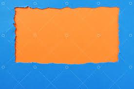 torn paper background blue orange strip