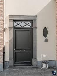 Houten Voordeur Zwart Klassiek Profel Voordeur Deur Hout