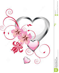 Beautiful Heart Design Floral Heart Design Stock Illustration Illustration Of