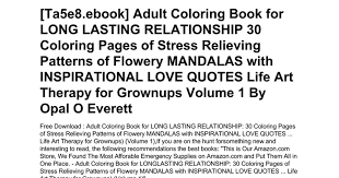 Adult Coloring Book For Long Lasting Relationship 30 Coloring Pages