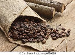 coffee beans bag.  Coffee Coffee Beans In A Bag On Wooden Background Inside Coffee Beans Bag N