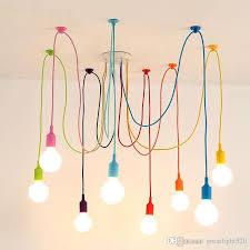 us stock e27 art colorful pendant lights spider chandelier pendant lamp indoor decoration lamp 6 8 10 12 14 heads us shippig large pendant contemporary