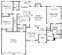 One Story 40X50 Floor Plan   Home Builders  Single Story Open Floor Plans For One Story Homes