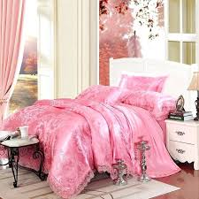luxury jacquard bedding sets hot pink sparkly flower and paisley pattern elegant girls luxurious jacquard satin full queen size bedding sets kmart bedding