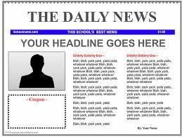 Newspaper Template Free Google Docs Free Newspaper Template Cyberuse