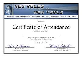 Sample Certificate Of Attendance Template Best Samples Templates