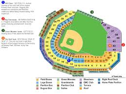 Baltimore Orioles Seating Chart Fenway Park Boston Red Soxs Ballpark Ballparks Of Baseball