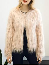 outfit fluffy faux fur coat light pink s