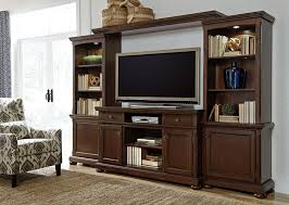 porter rustic brown xl entertainment center with fireplace option