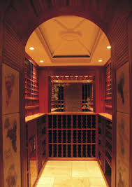residential wine cellar undercounter solid wood integrated lighting 2 cellar lighting