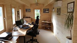 home office cabin. Garden-Home-office-inside-the-Dorset-Cabin Home Office Cabin Creative Living Cabins