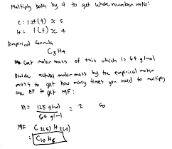 If The Molar Mass Of Hydrazine Is 32 G Mol Clutch Prep