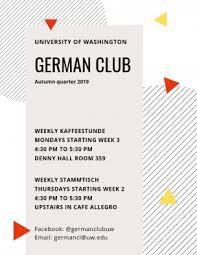 Deutsch Klub Department Of Germanics University Of