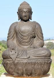 stone garden buddha statue holding malas 36 102ls380 hindu s buddha statues