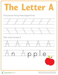 preschool reading u0026 writing worksheets practice tracing the letter a