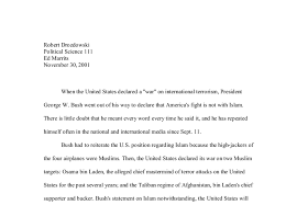 the war on terrorism a level history marked by teachers com document image preview