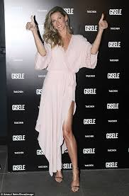 so happy gisele bundchen in brazil this weekend to promote her coffee table book