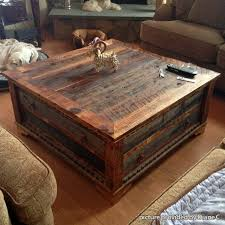 Amazing Rustic Square Coffee Table With Reclaimed Wood Square Coffee Table  Wb Designs Great Ideas