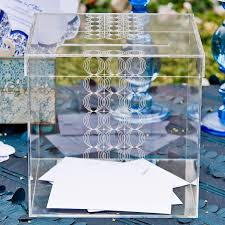circle of love personalized lucite wishing well box clear acrylic wedding card bo by tea and becky invitations