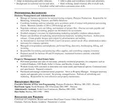 Real Estate Sample Resume Business Statement Template