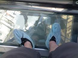 the glass floor of the edge