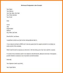 retirement letter template retirement resignation letter example free retirement letter to company