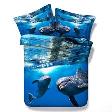printed bedsp promotion shop for promotional printed bedsp 3d print bedspreads bedding sets quilt duvet covers bedclothes sheets twin full queen king size woven 500tc dolphin ocean blue