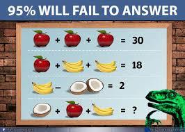 apple banana coconut puzzle fruit brain teaser puzzles