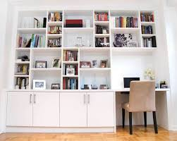 alcove office. an alcove is turned into a small home office