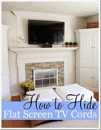 how to hide flat screen tv cords and wires