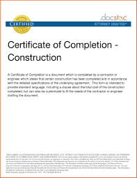 Example Of Certific Nice Certificate Of Completion And Compliance