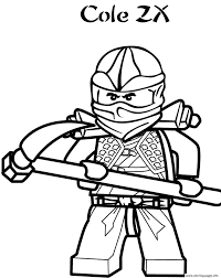 Coloring Pages For Kids Ninjago - Drawing with Crayons