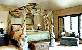 Bed Canopy With Lights Curtains For Four Poster Ideas Bedroom Beds ...