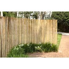 hampton bay 6 ft x 6 ft led and polished reed fence