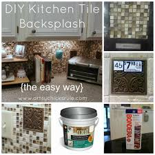 Diy Tile Backsplash Kitchen Kitchen Tile Backsplash Do It Yourself Artsy Chicks Rulear