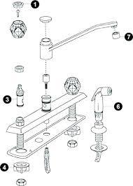 moen single handle kitchen faucet repair diagram best photo single handle
