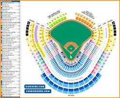 Described Los Angeles Dodgers Stadium Seating Chart Los